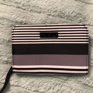 Vera Bradley black white and lavender wristlet